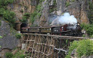 Cesta vlakem do White Pass
